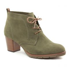 Chaussures femme hiver 2018 - bottines à lacets marco tozzi ver kaki