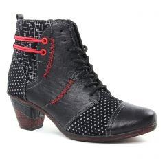 bottines-a-talon noir argent: même style de chaussures en ligne pour femmes que les Remonte
