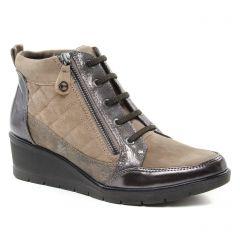bottines-a-lacets beige doré: même style de chaussures en ligne pour femmes que les Marco Tozzi