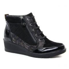 Tamaris 25224 Black : chaussures dans la même tendance femme (bottines-a-lacets noir doré) et disponibles à la vente en ligne