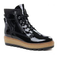 Chaussures femme hiver 2018 - bottines à lacets tamaris noir