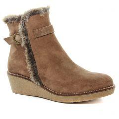 bottines-compensees taupe: même style de chaussures en ligne pour femmes que les Maria Jaén