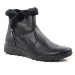 Chaussures femme hiver 2018 - bottines fourrées Enval noir