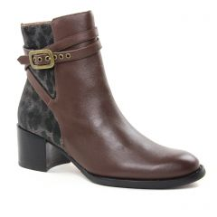 boots-jodhpur marron noir: même style de chaussures en ligne pour femmes que les Mamzelle