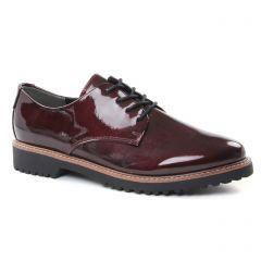 derbys bordeaux: même style de chaussures en ligne pour femmes que les Marco Tozzi
