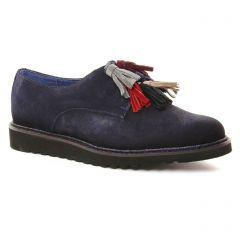 derbys bleu marine: même style de chaussures en ligne pour femmes que les Pintodiblu