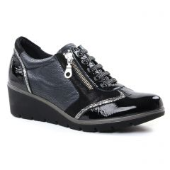 tennis noir gris argent: même style de chaussures en ligne pour femmes que les Rieker
