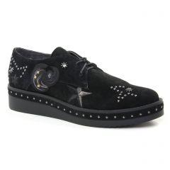 derbys-talons-compenses noir: même style de chaussures en ligne pour femmes que les Tamaris