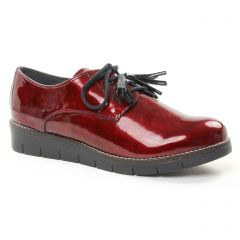 derbys-talons-compenses rouge: même style de chaussures en ligne pour femmes que les Tamaris