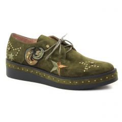 derbys-talons-compenses vert: même style de chaussures en ligne pour femmes que les Tamaris