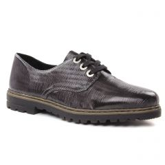 Chaussures femme hiver 2018 - derbys rieker gris noir