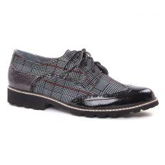 derbys gris vernis: même style de chaussures en ligne pour femmes que les Fugitive