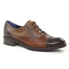 Dorking 6925 Cafe : chaussures dans la même tendance femme (derbys marron beige) et disponibles à la vente en ligne