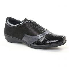 derbys noir argent: même style de chaussures en ligne pour femmes que les Geo Reino