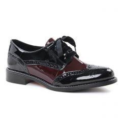 derbys noir bordeaux: même style de chaussures en ligne pour femmes que les Geo Reino