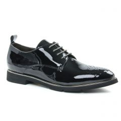 derbys noir vernis: même style de chaussures en ligne pour femmes que les Mamzelle