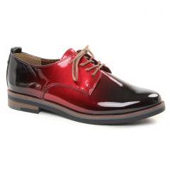 derbys rouge noir: même style de chaussures en ligne pour femmes que les Marco Tozzi