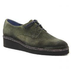 derbys vert kaki: même style de chaussures en ligne pour femmes que les Marco Tozzi