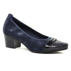 escarpins-trotteur bleu marine: même style de chaussures en ligne pour femmes que les Marco Tozzi