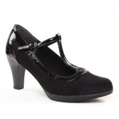 escarpins-salome noir vernis: même style de chaussures en ligne pour femmes que les Marco Tozzi