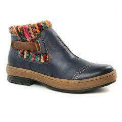 bottines-fourrees bleu multi: même style de chaussures en ligne pour femmes que les Rieker