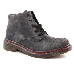 Chaussures femme hiver 2018 - low boots rieker gris argent
