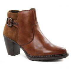 Chaussures femme hiver 2018 - low boots rieker marron