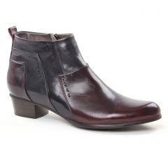 low-boots noir bordeaux: même style de chaussures en ligne pour femmes que les Marco Tozzi