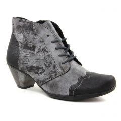 Chaussures femme hiver 2018 - low boots rieker noir gris