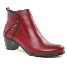 boots-talon rouge bordeaux: même style de chaussures en ligne pour femmes que les Dorking