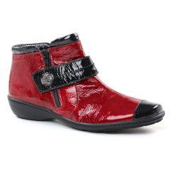 low-boots rouge noir: même style de chaussures en ligne pour femmes que les Geo Reino