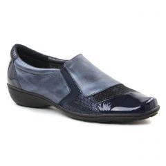 Chaussures femme hiver 2018 - mocassins Geo Reino bleu marine