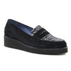mocassins noir gris: même style de chaussures en ligne pour femmes que les Pintodiblu