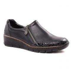 mocassins-slippers gris noir: même style de chaussures en ligne pour femmes que les Rieker