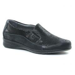 mocassins-slippers noir: même style de chaussures en ligne pour femmes que les Suave