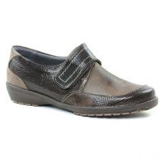 mocassins-trotteurs marron: même style de chaussures en ligne pour femmes que les Rieker