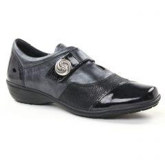 mocassins-trotteurs noir argent: même style de chaussures en ligne pour femmes que les Rieker