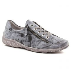 Chaussures femme hiver 2018 - tennis Remonte gris