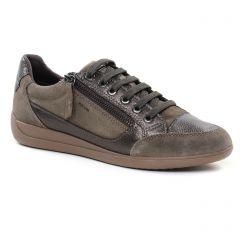 Chaussures femme hiver 2018 - tennis Geox marron gris