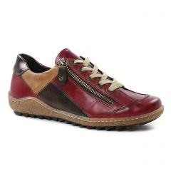 tennis rouge bordeaux: même style de chaussures en ligne pour femmes que les Remonte