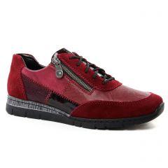 tennis rouge bordeaux: même style de chaussures en ligne pour femmes que les Rieker