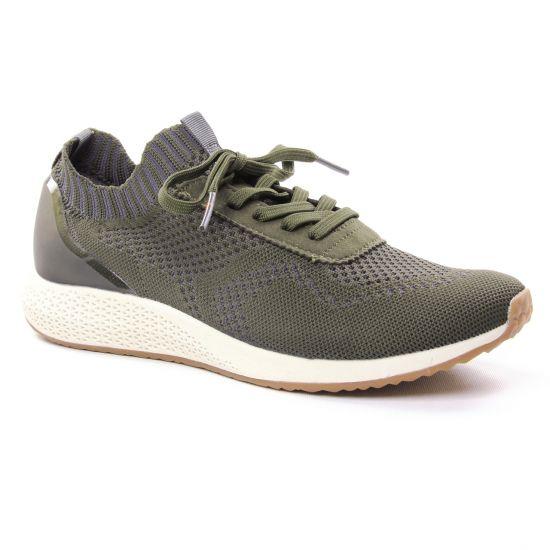 Tennis Et Baskets Mode Tamaris 23714 Olive, vue principale de la chaussure femme