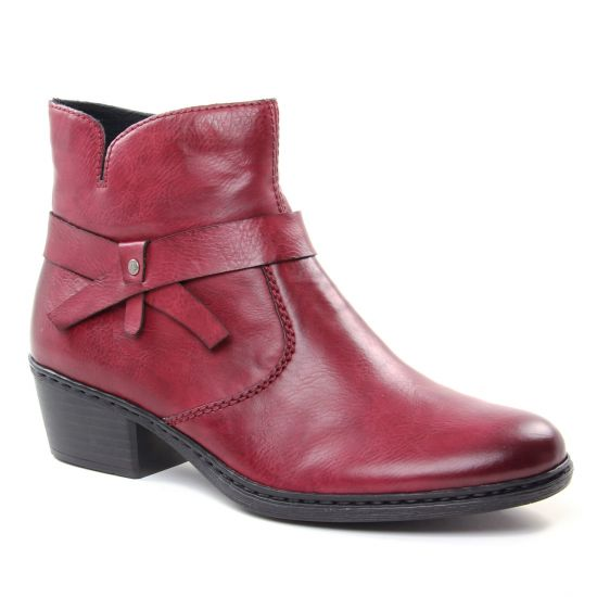 Bottines Et Boots Rieker 75553-35 Wine, vue principale de la chaussure femme