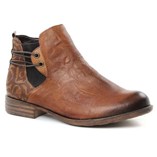 Bottines Et Boots Remonte D4976 Cuoio, vue principale de la chaussure femme