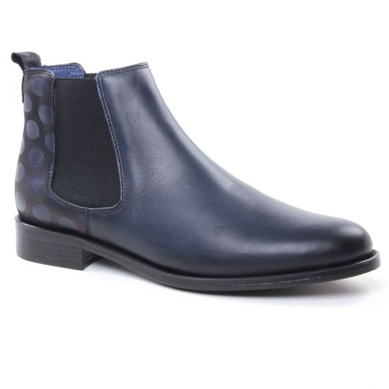 Bottines Et Boots Pintodiblu 80370M Marine, vue principale de la chaussure femme
