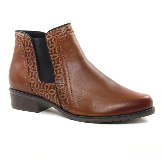 Bottines Et Boots Remonte D6873 Chestnut, vue principale de la chaussure femme