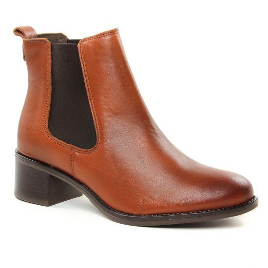 Bottines Et Boots Scarlatine 77765 Cognac, vue principale de la chaussure femme