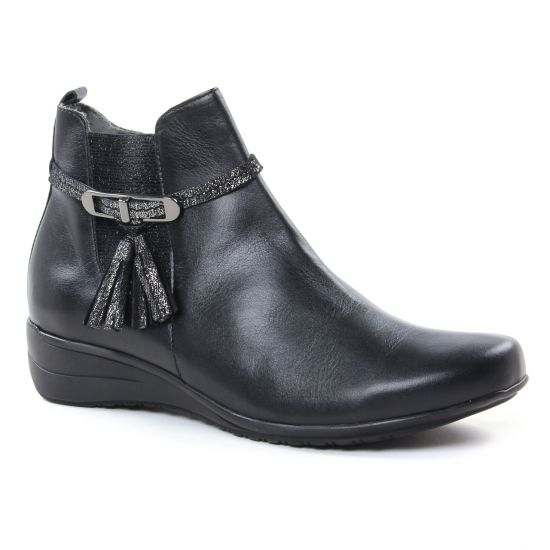 Bottines Et Boots Geo Reino Estafani Noir, vue principale de la chaussure femme