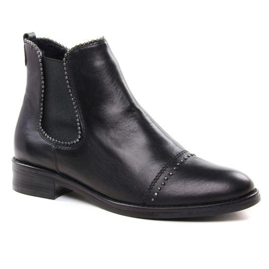 Bottines Et Boots Remonte D8587 Schwarz, vue principale de la chaussure femme