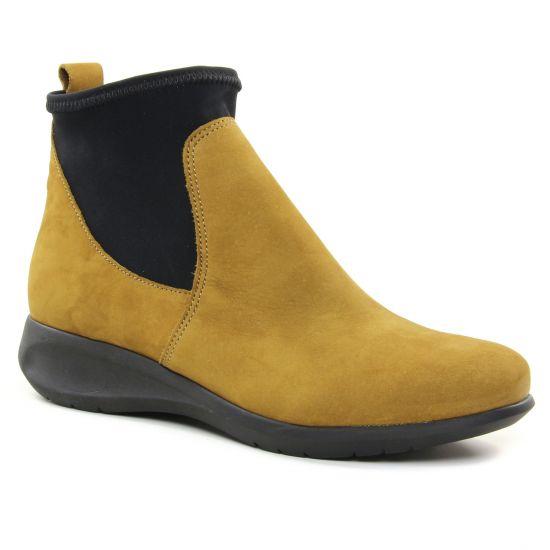 Bottines Et Boots Hirica 38V3B2 Olive, vue principale de la chaussure femme
